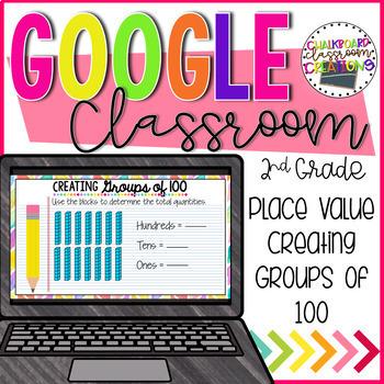 2.NBT.A.1 Place Value for Google Classroom 2nd Grade Digital Task Cards