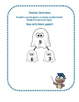 Creating Halloween Number Bonds!