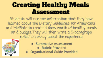 Creating Healthy Meals Assessment