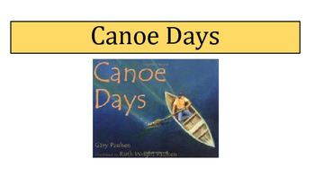"Creating Imagery (w/Similes, Metaphors, Adjectives and Mood) using ""Canoe Days"""