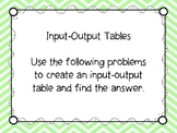 Creating Input-Output Tables