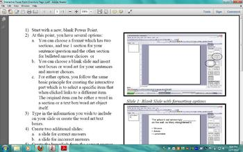 creating interactive power points instructions and sample power point