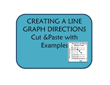 Creating Line graphs- directions with examples and a cut a