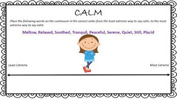 Mood Words-Creating Linear Arrays