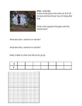 Creating Linear Equations