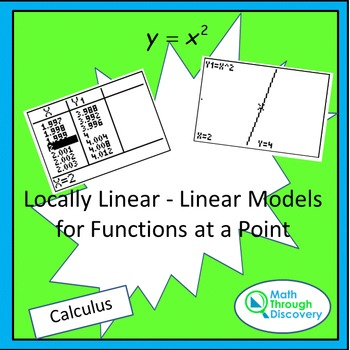 Calculus:  Locally Linear - Linear Models for Functions at