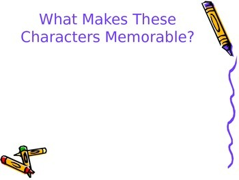 Creating Memorable Characters Power Point