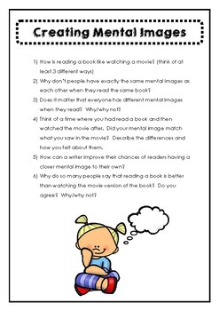 Creating Mental Images Higher Order Thinking Questions