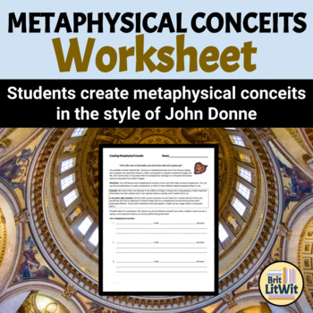 Creating Metaphysical Conceits Worksheet