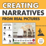 Creating Narratives from Real Pictures for Speech Therapy