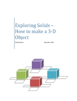 Creating Nets of 3-D Solid Objects