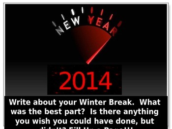 Creating New Years Resolutions!