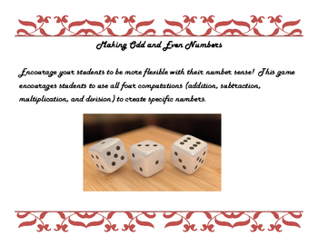 Creating Odd and Even Numbers