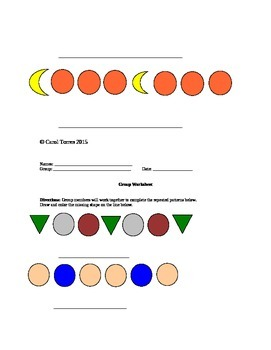 Creating Patterns Using Shapes Lesson Plan And Worksheets
