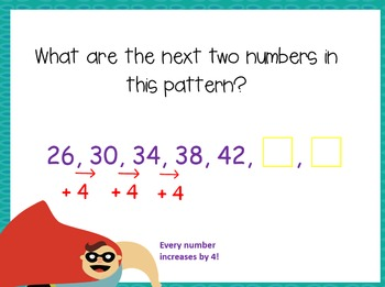 Creating Patterns with a Given Rule- 4.OA.5