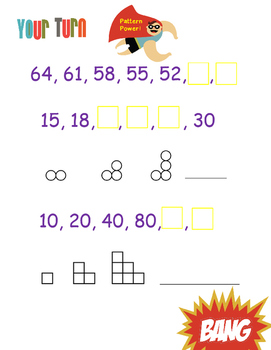 Creating Patterns with a Given Rule (Interactive Notebook Pages)- 4.OA.5