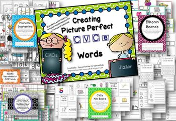 Creating  Picture Perfect C-V-C-e Words {Word Work Centers & Printables}