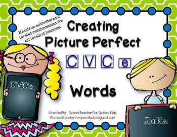 Creating  Picture Perfect C-V-C-e Words {Word Work Centers