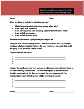 Creating Power Ful Lead Paragraphs