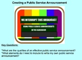 Creating Public Service Announcements - Authentic Writing