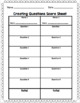 Creating Questions Chart and Game