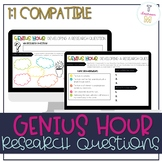 Creating Research Questions for Genius Hour - 1:1 Compatible | Distance Learning