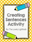 Creating Sentences Activity {Noun & Verb activity}