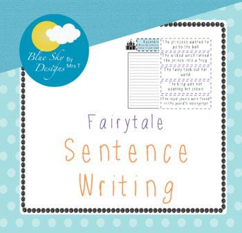 Creating Sentences Fairytale Edition