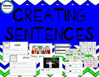 Creating Sentences- SPED/AUTISM/ELEMENTARY