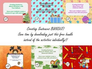 Creating Sentences with Callouts BUNDLE