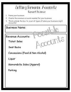 Creating & Setting Revenue Accounts for Businesses