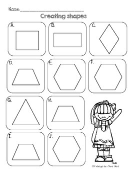 Creating Shapes: First Grade Math