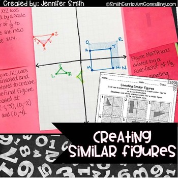 Creating Similar Figures Lesson for Interactive Notebooks | TEKS 8.3a and 8.10a