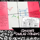 Creating Similar Figures Lesson for Interactive Notebooks