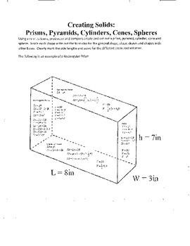 Prisms, Pyramids, Cylinders, Cones, Spheres