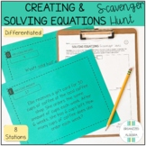 Creating & Solving Equations (Word Problems) Scavenger Hun