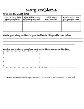 Creating Story Problems 4.NBT.4