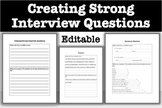 Creating Strong Interview Questions - w/ Example & Sentenc