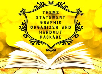 Creating Theme Statements Bundle: Handouts, Graphic Organizers, and Power Point