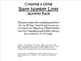 Creating & Using Blank Number Lines Activity Pack (CCLS Al
