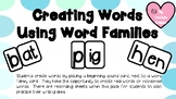 Creating Words Using Word Families