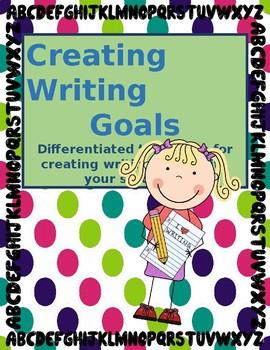 Creating Writing Goals