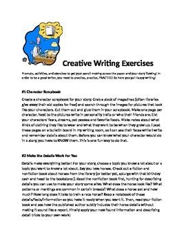 Creating Writing Worksheets Pack #1