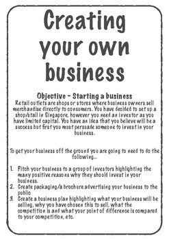Creating Your Own Business