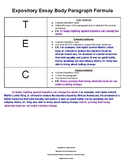 Creating a Body Paragraph for an Expository Essay 7th grade STAAR