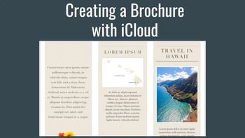 Creating a Brochure with iCloud, Chromebook Friendly, Uses