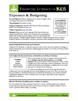 Lesson 13: Expenses & Budgeting