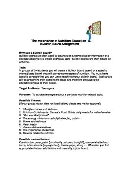 Bulletin Board Assignment