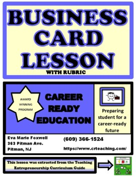 Creating a Business Card with Rubric