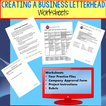 Creating a Business Logo Complete Lesson w/PPT, Lesson Plans, Student Worksheets